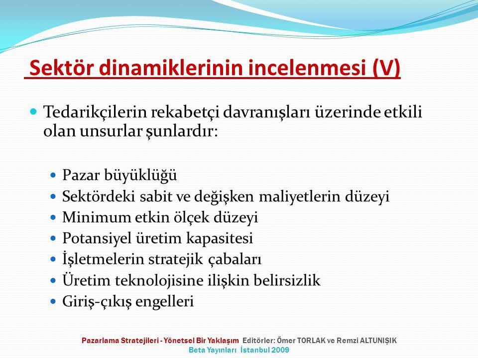 Sektör dinamiklerinin incelenmesi (V)