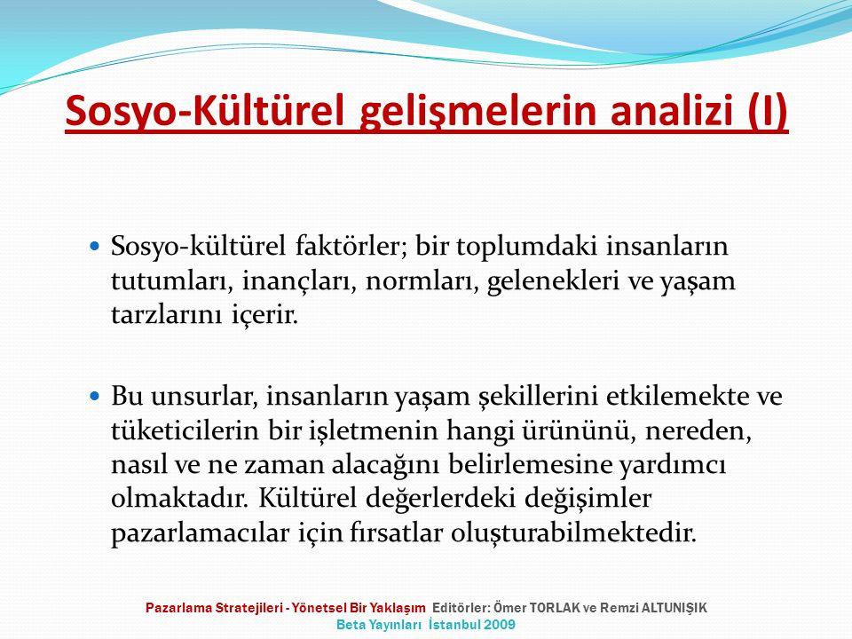 Sosyo-Kültürel gelişmelerin analizi (I)