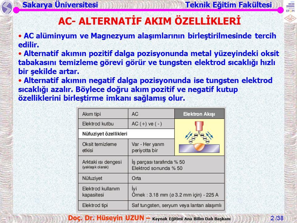 AC- ALTERNATİF AKIM ÖZELLİKLERİ
