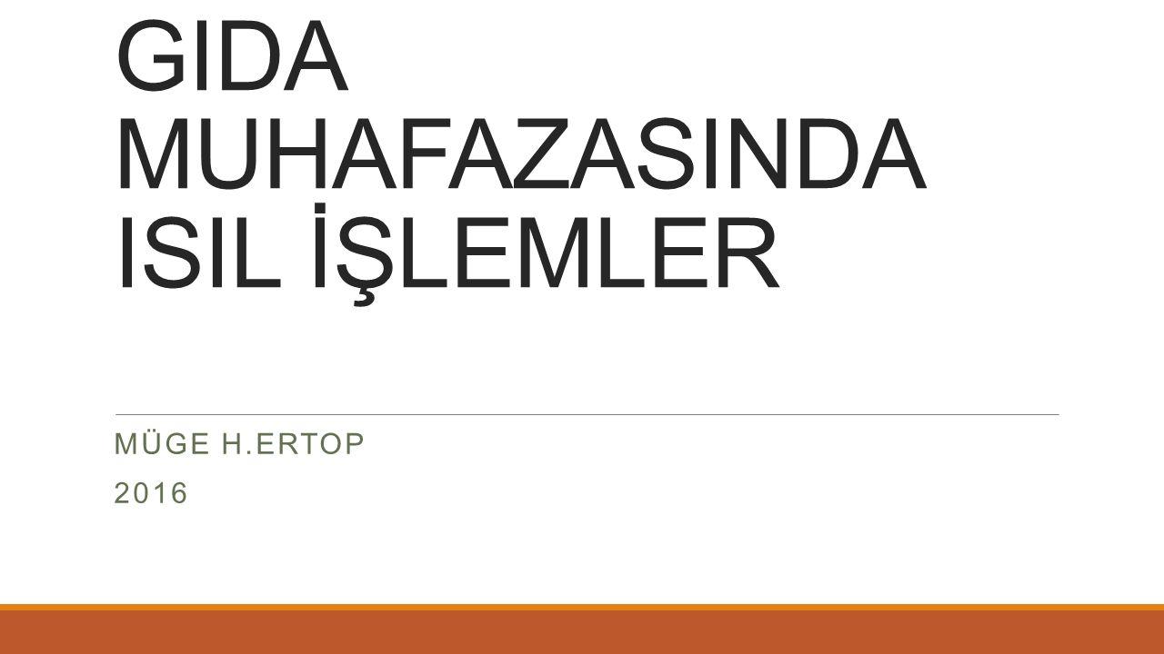 GIDA MUHAFAZASINDA ISIL İŞLEMLER