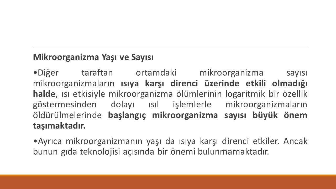 Mikroorganizma Yaşı ve Sayısı