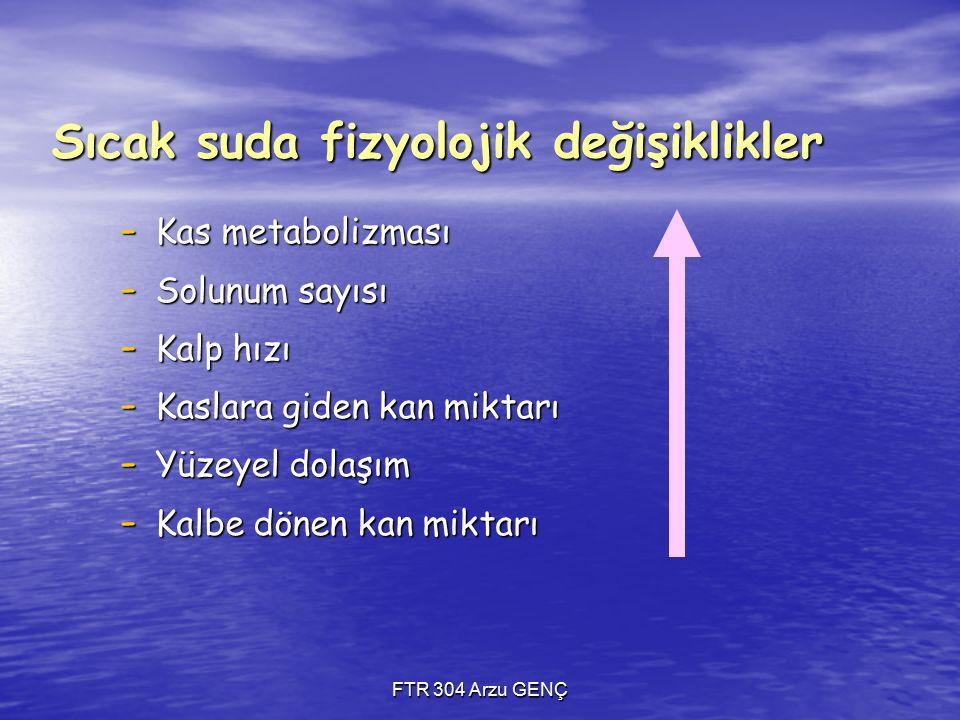 Sıcak suda fizyolojik değişiklikler