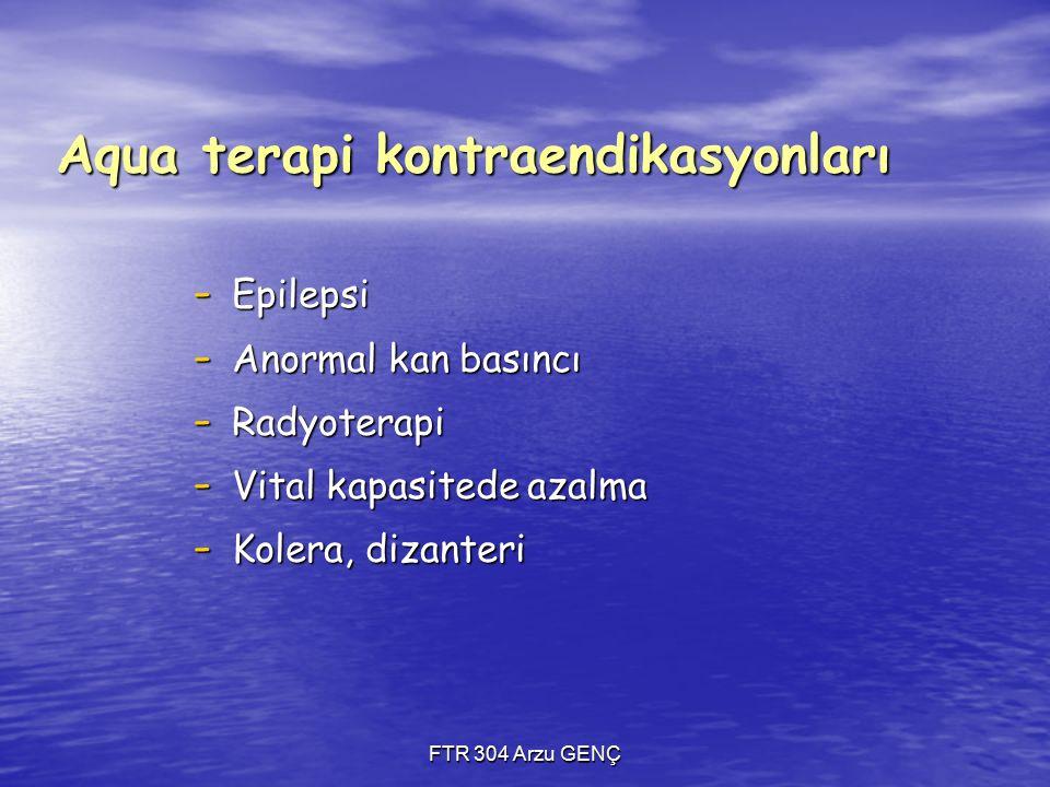 Aqua terapi kontraendikasyonları
