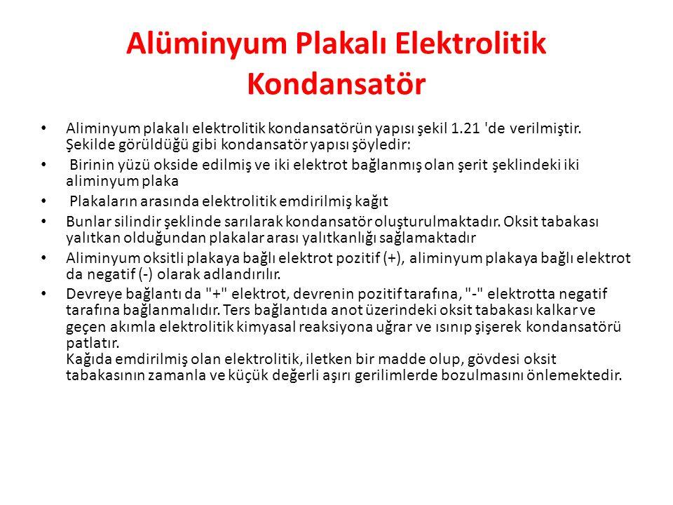 Alüminyum Plakalı Elektrolitik Kondansatör