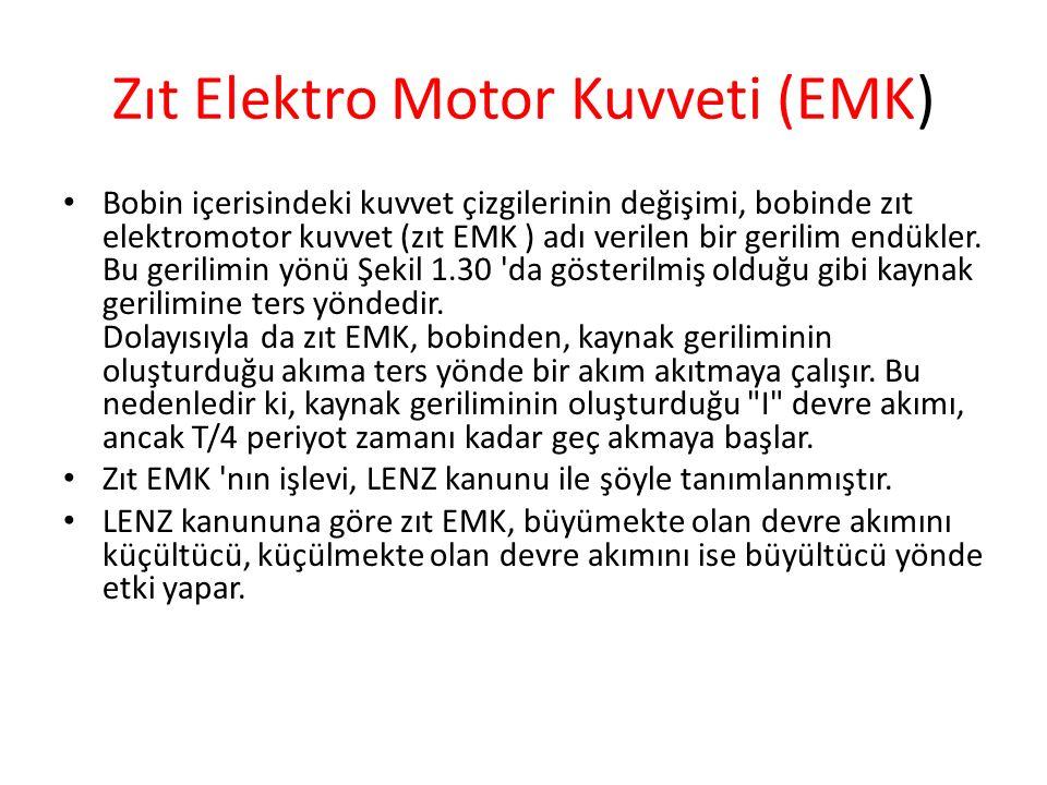 Zıt Elektro Motor Kuvveti (EMK)