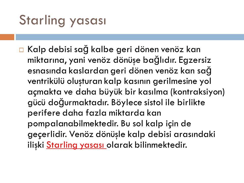 Starling yasası