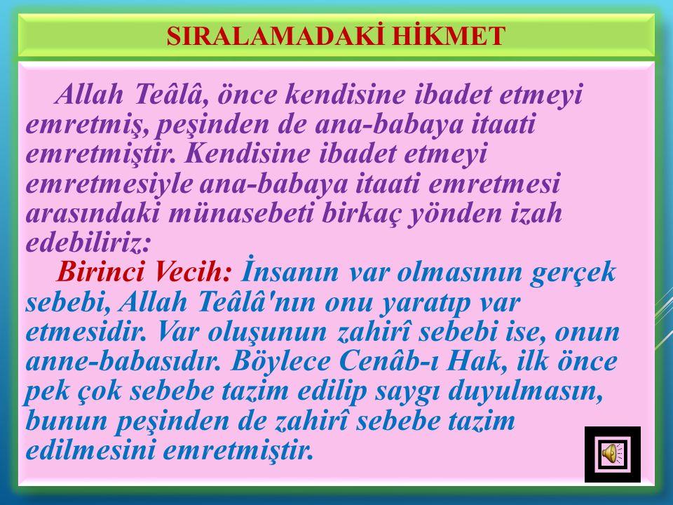 SIRALAMADAKİ HİKMET