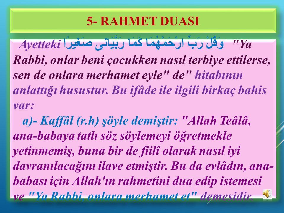 5- RAHMET DUASI