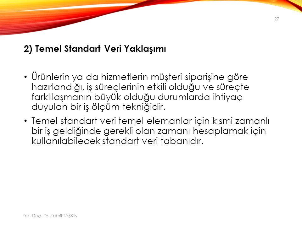 2) Temel Standart Veri Yaklaşımı