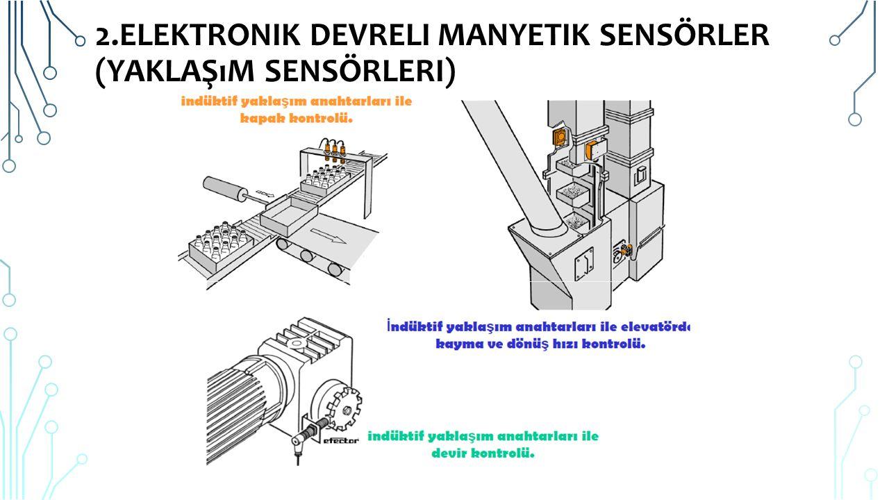 2.Elektronik Devreli Manyetik Sensörler (Yaklaşım Sensörleri)