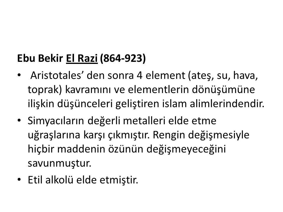 Ebu Bekir El Razi (864-923)