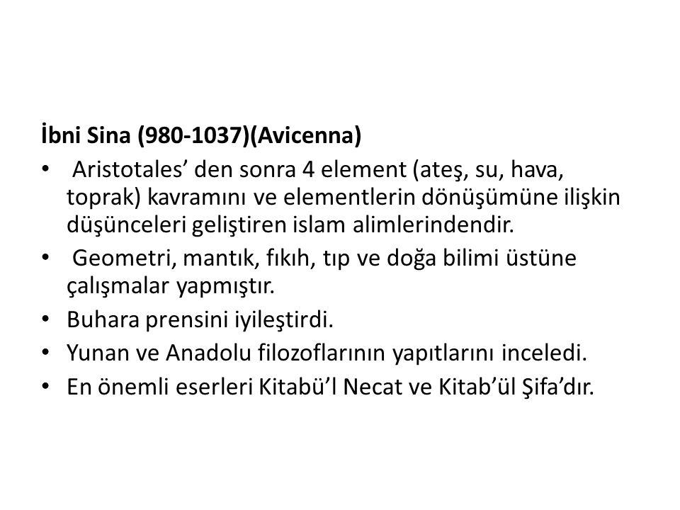 İbni Sina (980-1037)(Avicenna)