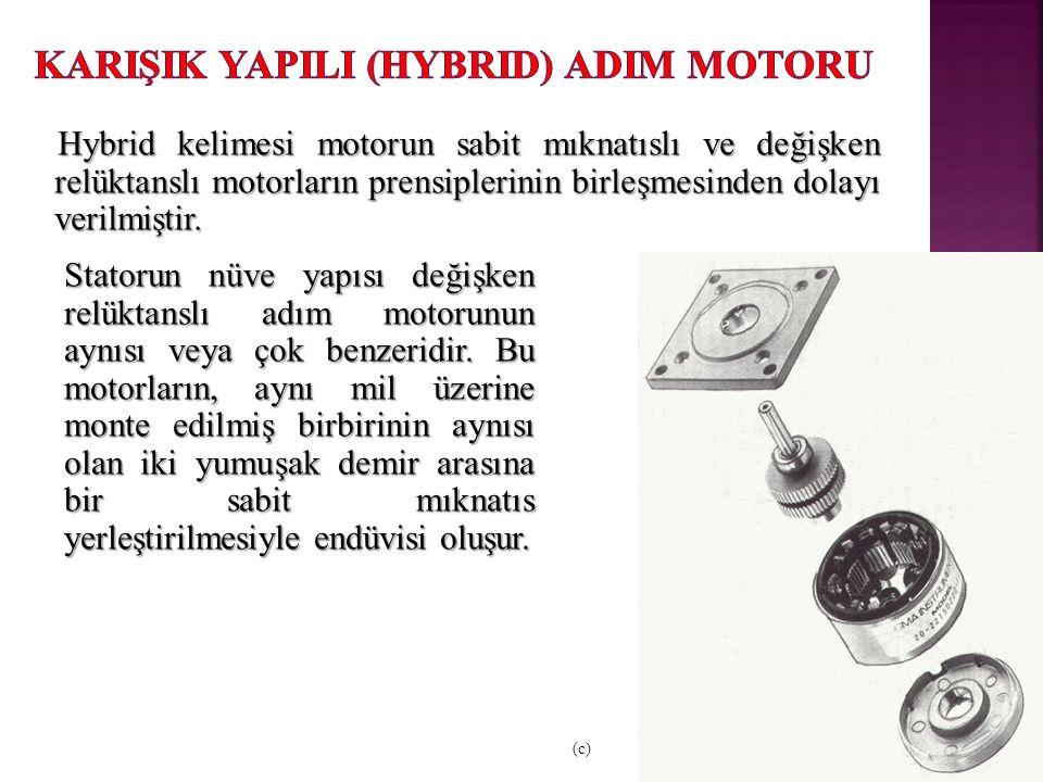 KarIşIk YapIlI (Hybrid) AdIm Motoru