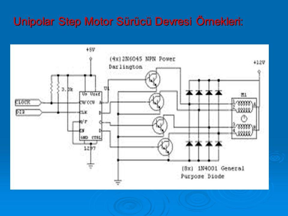 Unipolar Step Motor Sürücü Devresi Örnekleri: