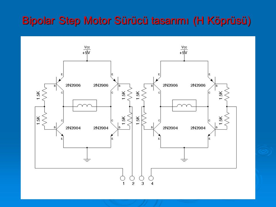 Bipolar Step Motor Sürücü tasarımı (H Köprüsü)