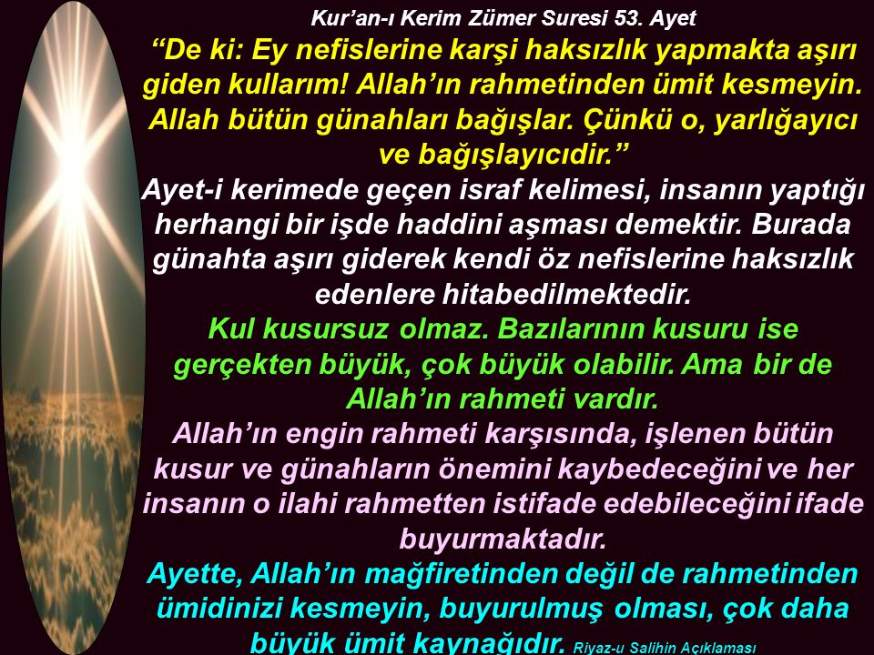 Kur'an-ı Kerim Zümer Suresi 53. Ayet