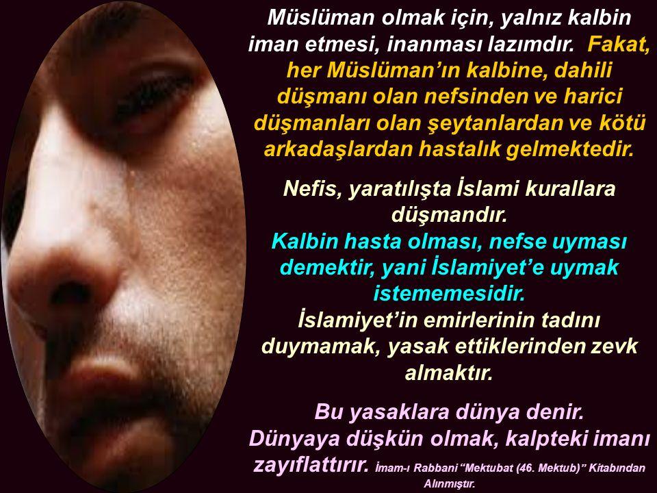 Müslüman olmak için, yalnız kalbin iman etmesi, inanması lazımdır