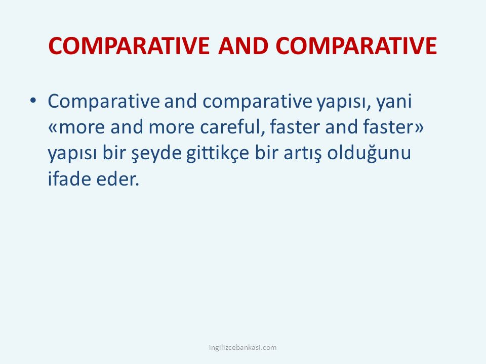 COMPARATIVE AND COMPARATIVE