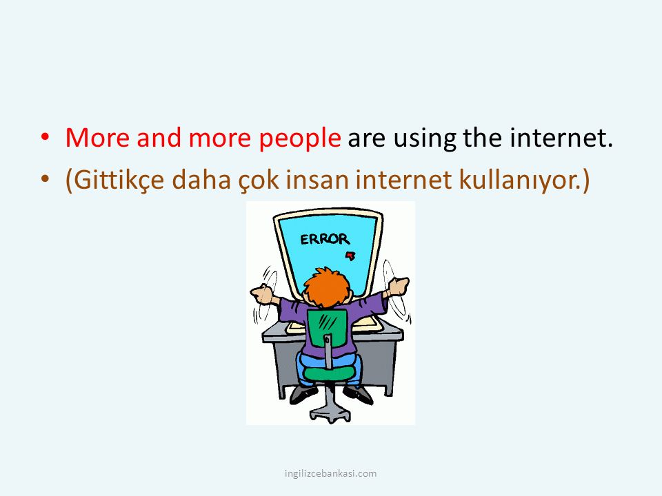 More and more people are using the internet.