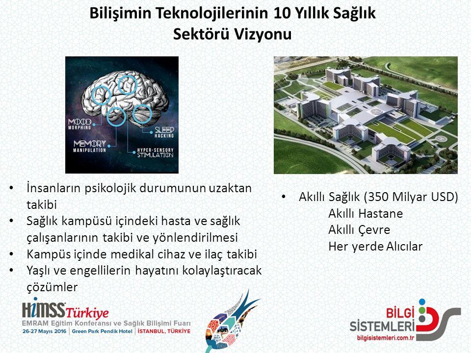 Bilişimin Teknolojilerinin 10 Yıllık Sağlık Sektörü Vizyonu