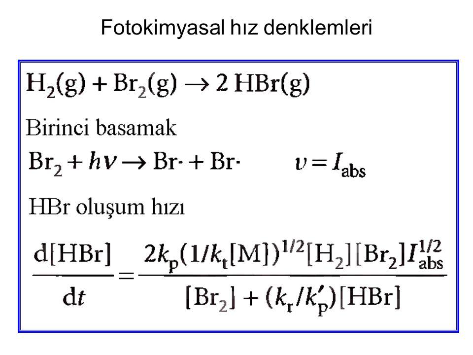 Fotokimyasal hız denklemleri