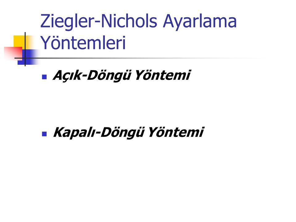Ziegler-Nichols Ayarlama Yöntemleri