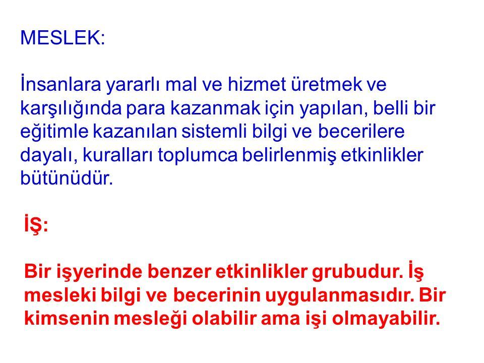 MESLEK: