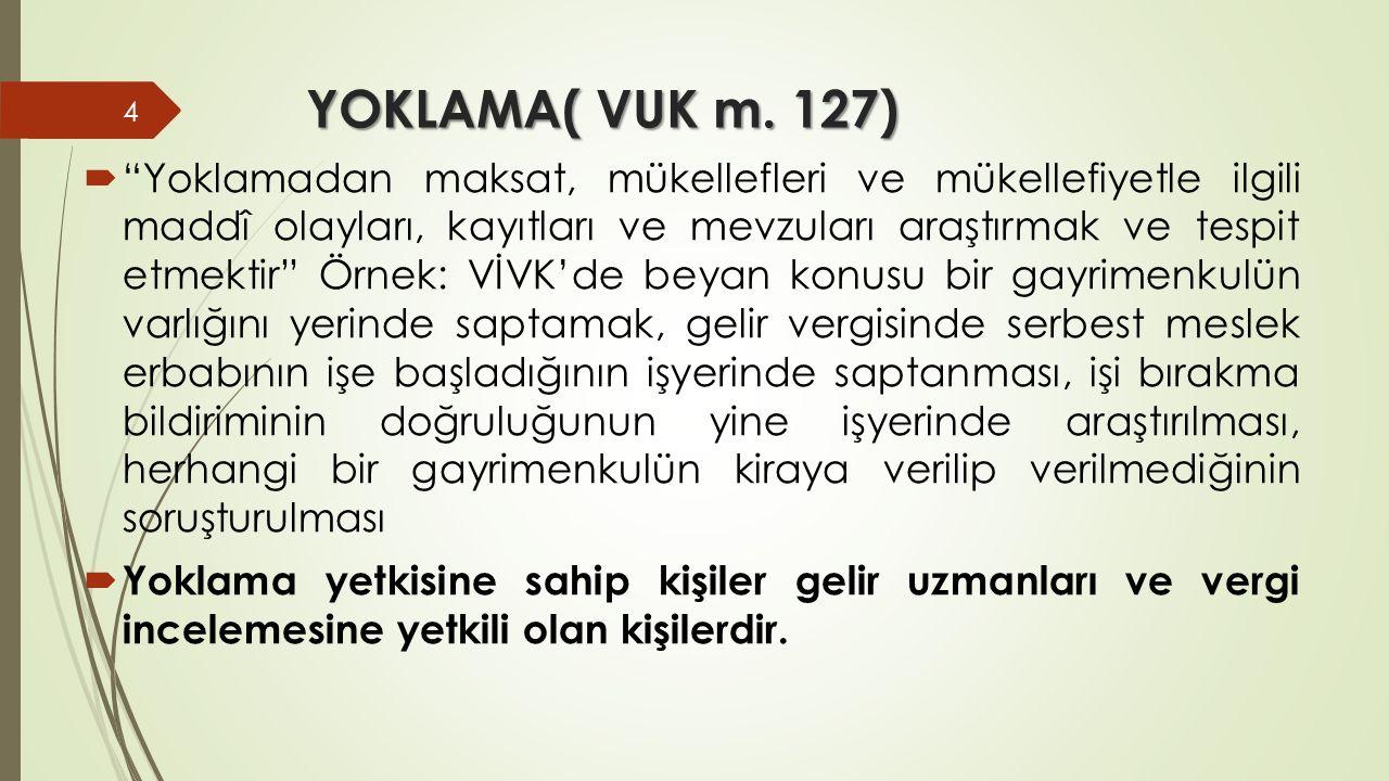 YOKLAMA( VUK m. 127)