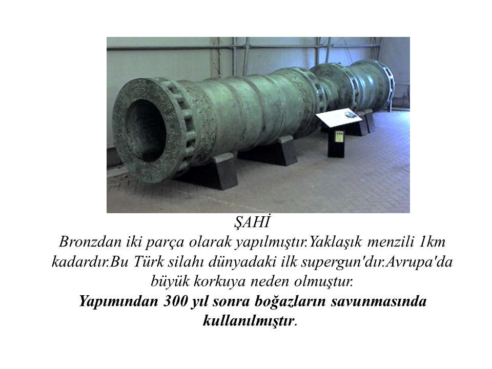 Yapımından 300 yıl sonra boğazların savunmasında kullanılmıştır.