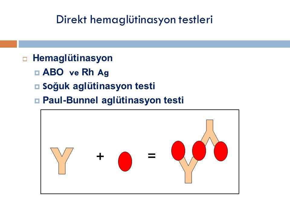 Direkt hemaglütinasyon testleri