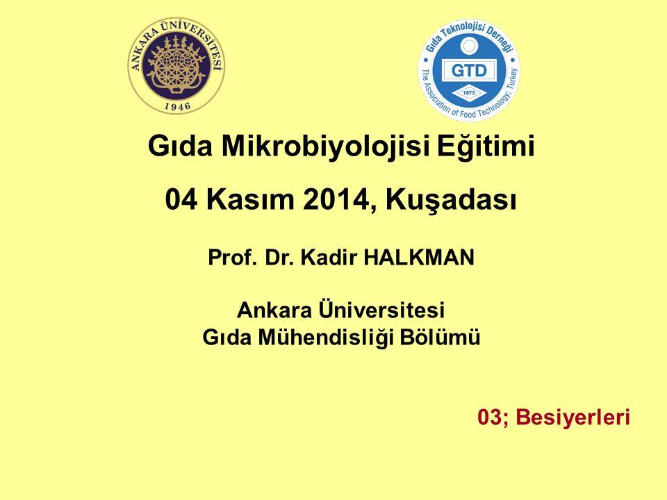 Gıda Mikrobiyolojisi Eğitimi Gıda Mühendisliği Bölümü