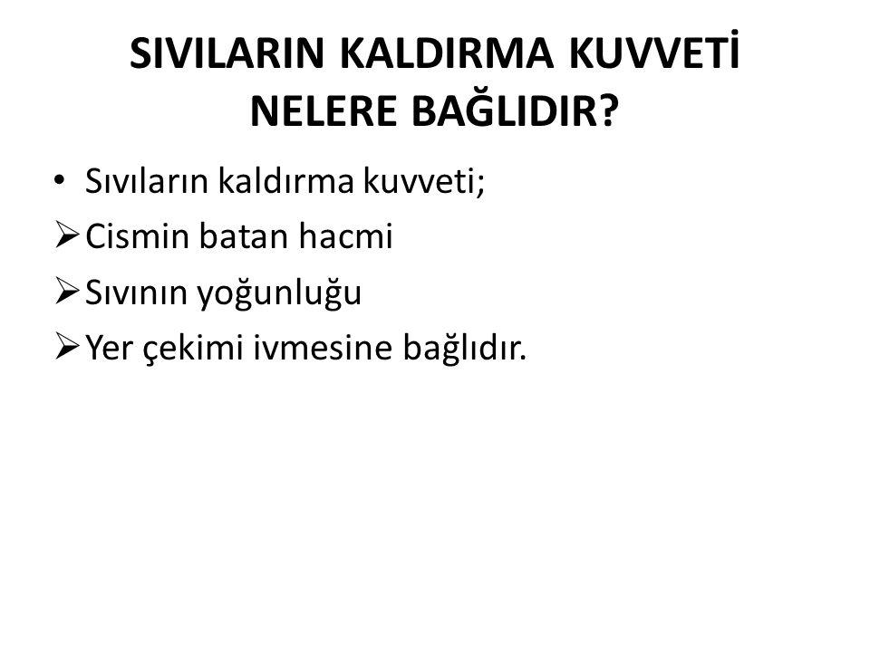 SIVILARIN KALDIRMA KUVVETİ NELERE BAĞLIDIR