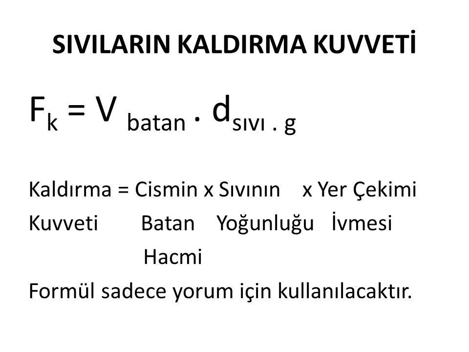 SIVILARIN KALDIRMA KUVVETİ