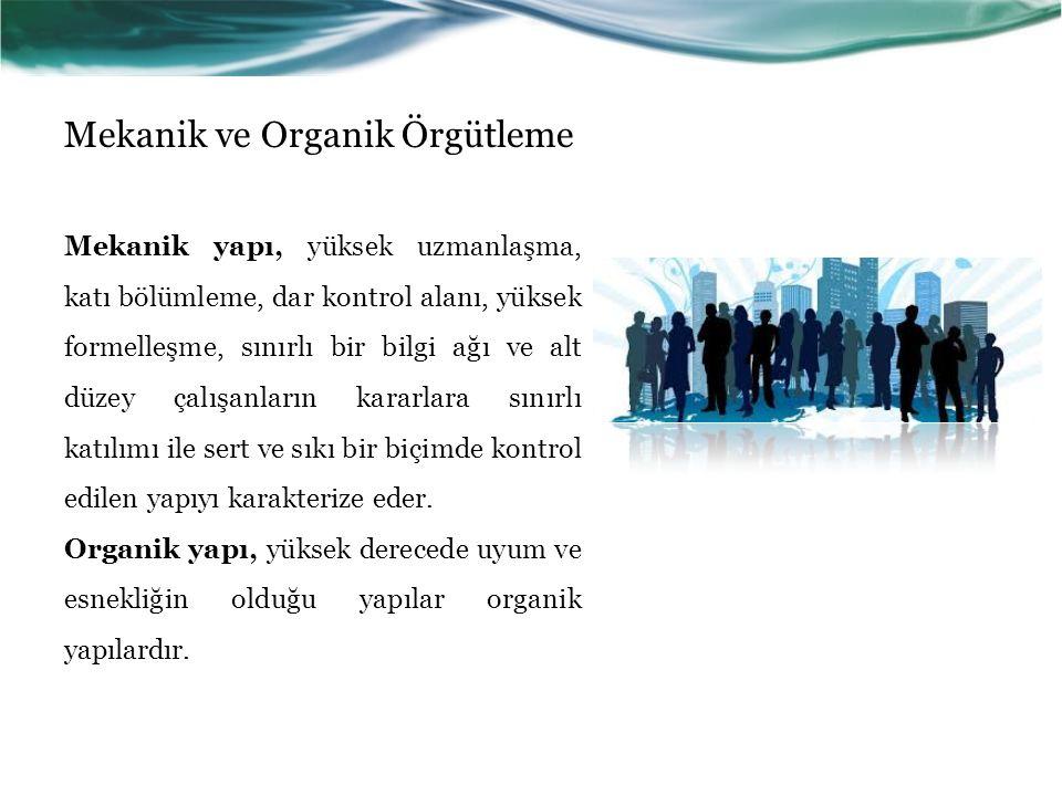 Mekanik ve Organik Örgütleme