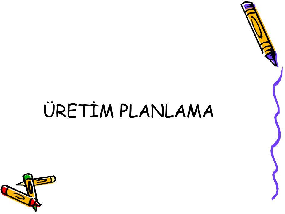 ÜRETİM PLANLAMA