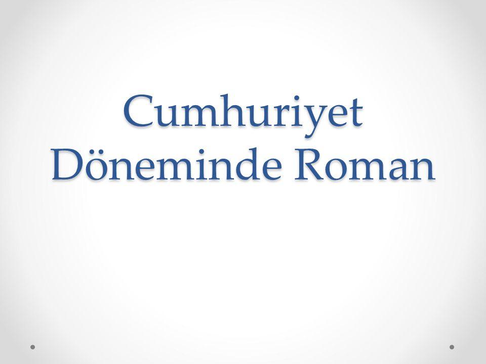 Cumhuriyet Döneminde Roman