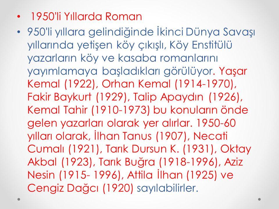 1950 li Yıllarda Roman