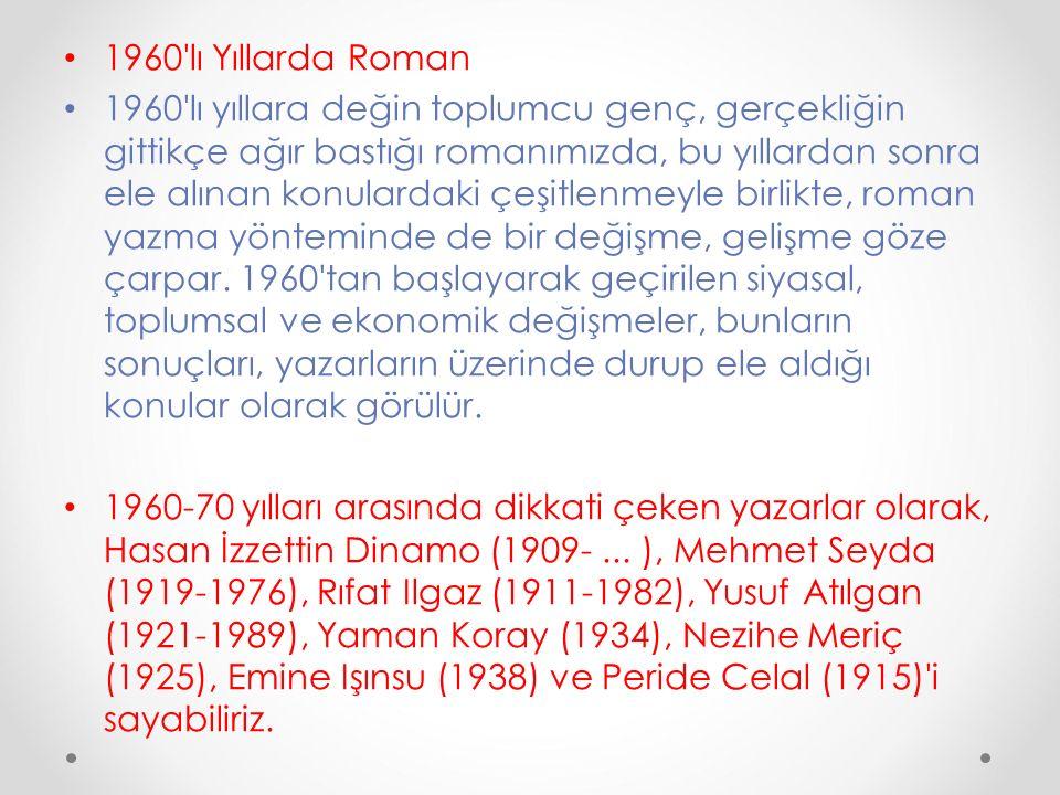 1960 lı Yıllarda Roman
