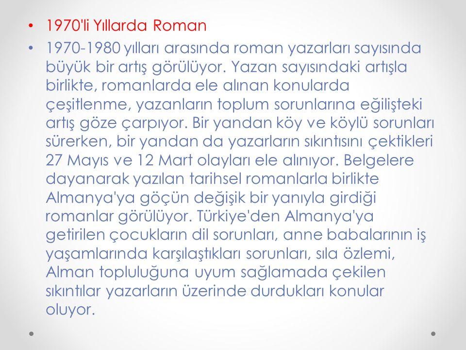 1970 li Yıllarda Roman