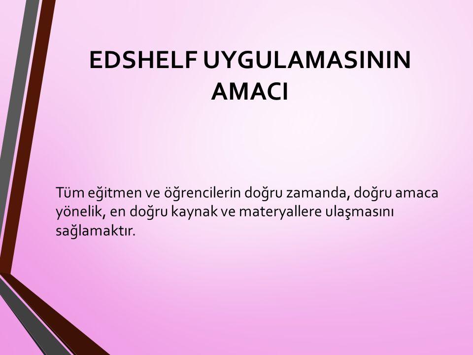 EDSHELF UYGULAMASININ AMACI
