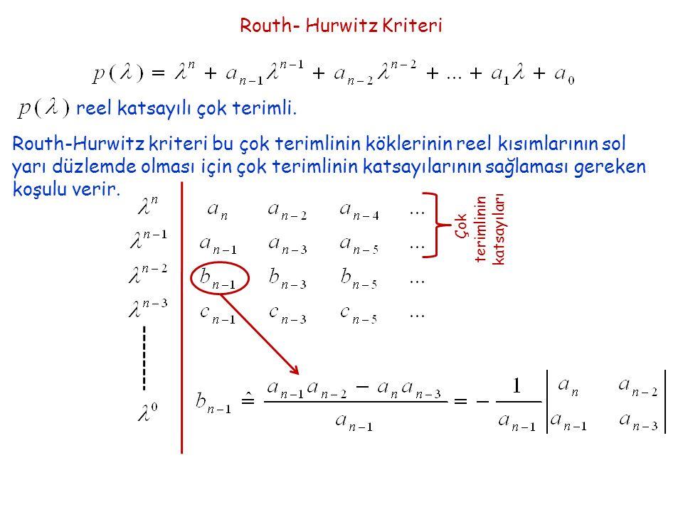 Routh- Hurwitz Kriteri