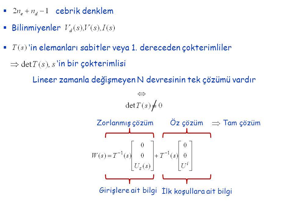 'in elemanları sabitler veya 1. dereceden çokterimliler
