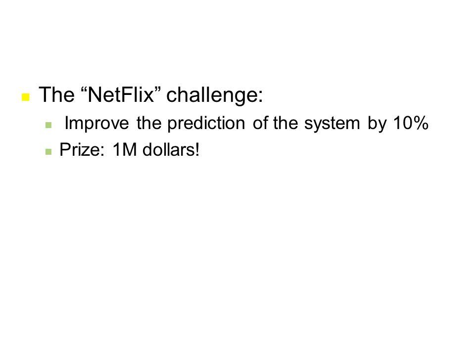 The NetFlix challenge: