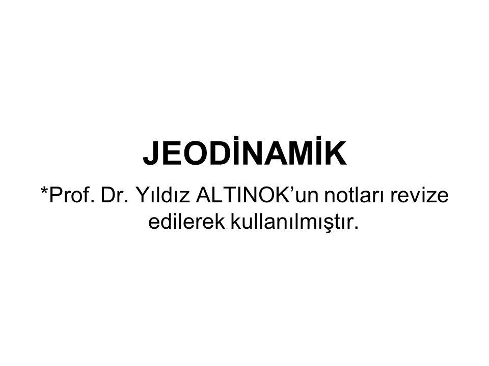 *Prof. Dr. Yıldız ALTINOK'un notları revize edilerek kullanılmıştır.