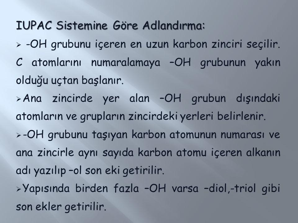 IUPAC Sistemine Göre Adlandırma: