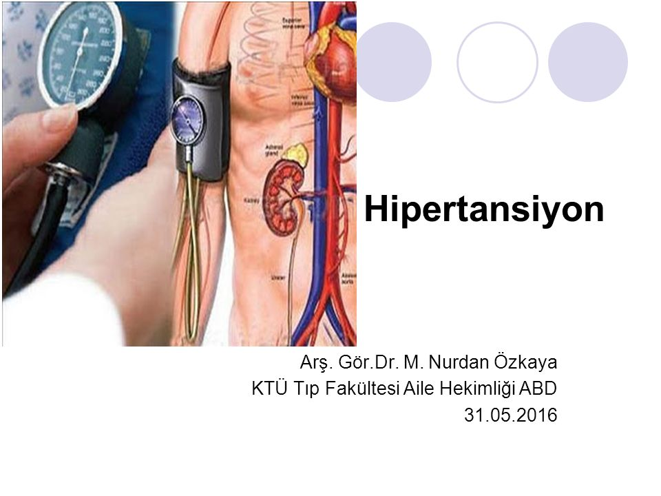 Hipertansiyon Arş. Gör.Dr. M. Nurdan Özkaya
