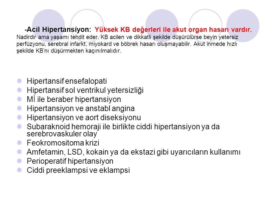 Hipertansif ensefalopati Hipertansif sol ventrikul yetersizliği