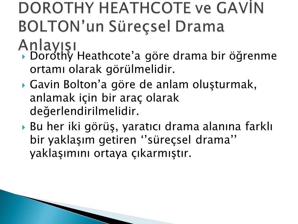 DOROTHY HEATHCOTE ve GAVİN BOLTON'un Süreçsel Drama Anlayışı