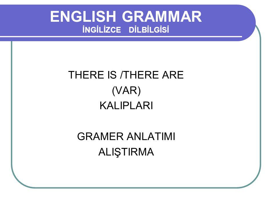ENGLISH GRAMMAR İNGİLİZCE DİLBİLGİSİ