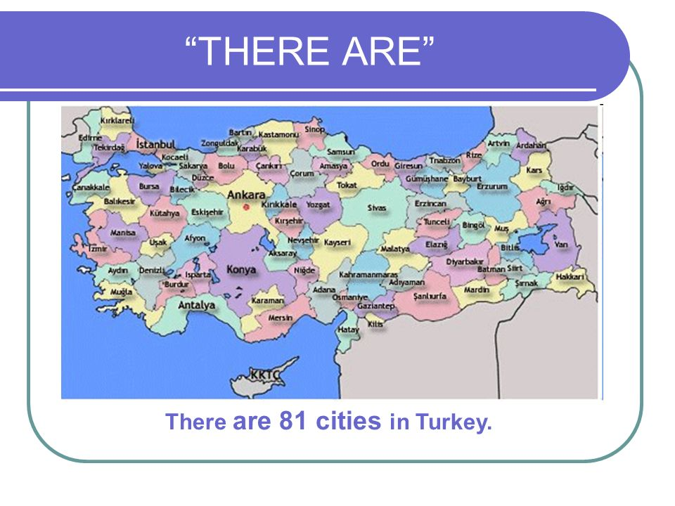 THERE ARE There are 81 cities in Turkey.